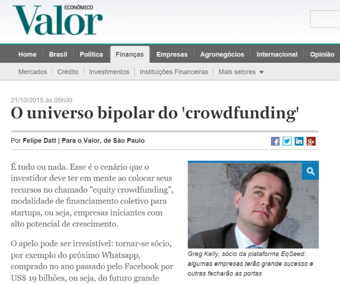 O universo bipolar do crowdfunding
