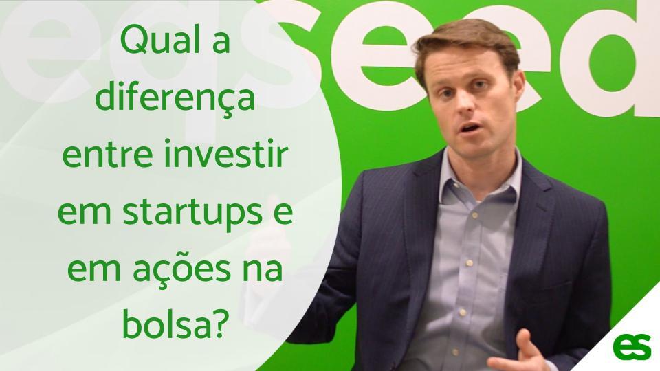 A diferença entre investir em startups e em ações na bolsa
