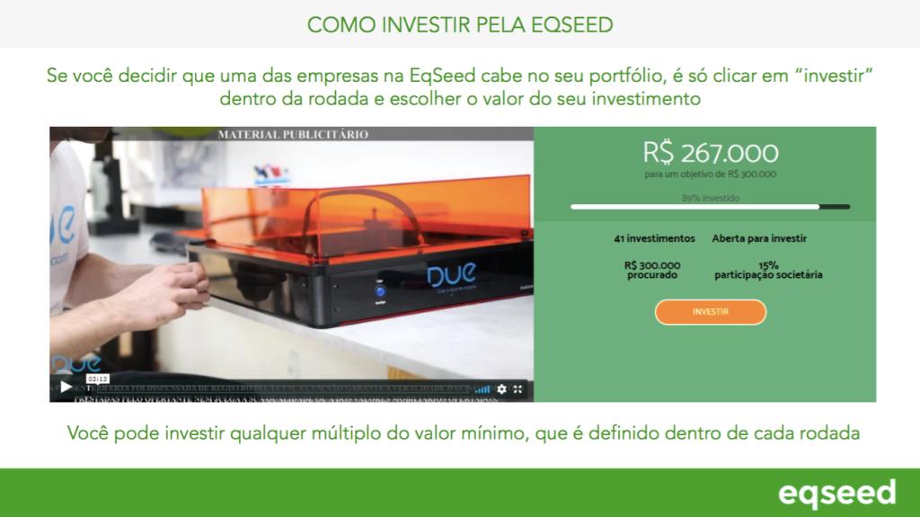 Clicar em investir