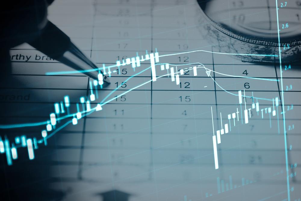 O que é IPO: gráfico com candles demostrando oscilações